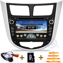 "7"" Car GPS DVD Player for Hyundai Solaris Verna accent car headunit radio video player navigation Bluetooth TV iPod 3G/Wifi-USB"