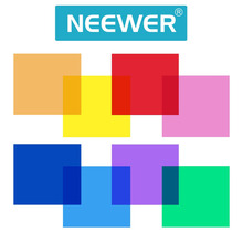 "Neewer 12""/30CM 8 Set Pack of Gel Sheet Transparent Color Correction Light Gel Filter for Photography Yongnuo Strobe Flashlight"