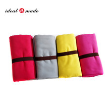 50pcs/lot free shipping personalized label Wholesale Cheap For Outdoor Camping Microfiber Sports Towel With Your Private Label(China)