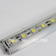 1m long 5050 72leds led rigid bar;DC12V input;U type alu housing, waterproof(China)