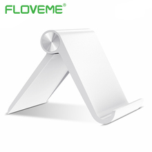FLOVEME Universal Phone Holder Stand For iPhone 8 X Mobile Phones Tablet PC Folding Shaft Adjustable Table Holder Phone Support(China)
