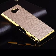 For Sony Xperia M2 Case Luxury Football Hard PC Back Cover For Sony Xperia M2 Case S50h Dual D2302 D2305 Gold Chrome Plated Skin