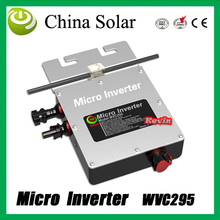 Solar power micro inverter 295WVC,22-50 V DC,Grid Tie solar inverter Can with Power Line Carrier-current Communication(China)