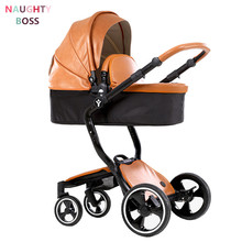 foofoo Free Shipping European Luxury Baby Stroller Trolley High View Prams Folding Poussette Kinderwagen bebek arabas(China)