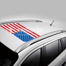 USA Flag D-D-P  Auto Roof  Decal Sticker One way vision sticker