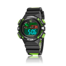 2016 OHSEN Brand Fashion and Casual Digital Kids Boys Sport Wristwatches Silicone LCD Watch 30M Waterproof Alarm Date Gift(China)