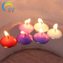10pcs Valentine gift romantic floating votive candle smoke-free unscented water candle birthday tea lights wedding decoration