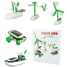 Creative DIY Solar Power Robot Kit Kids Educational Learning Toy Model Christmas Birthday Gift