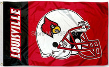 Louisville Cardinals Football Helmet Large Outdoor Flag 3x5ft(China)