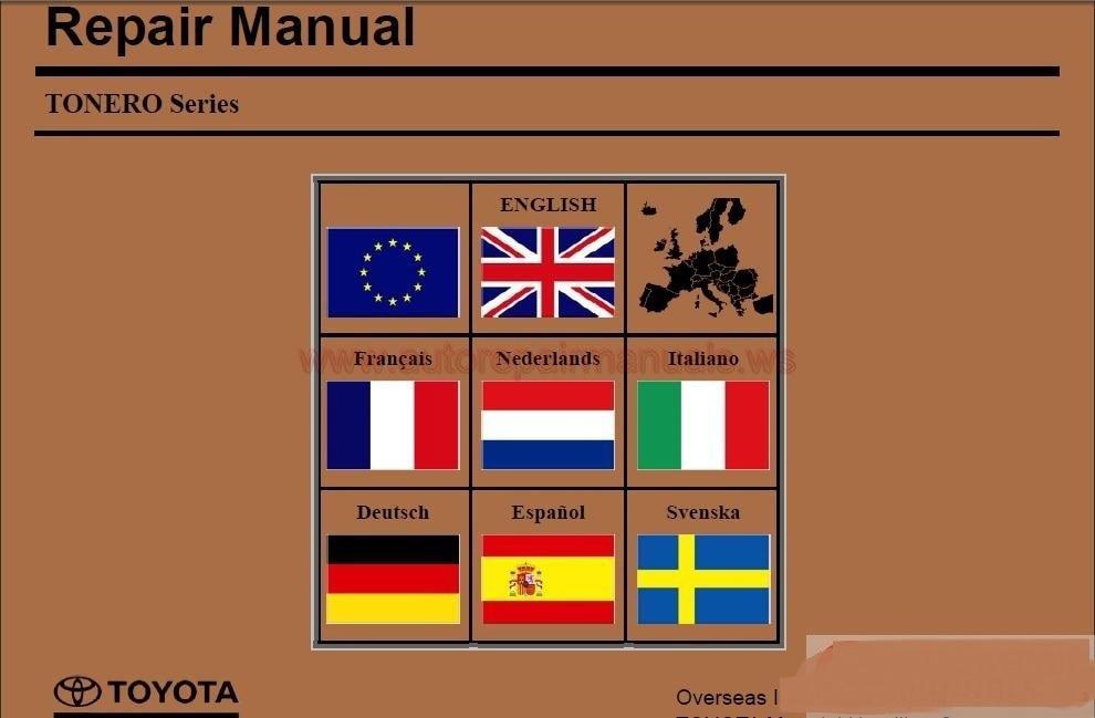 Industrial Equipment TONERO Series Repair Manual for toyota<br><br>Aliexpress