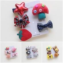 5pcs/Set Cute pet dog bows dog grooming bows pet dog hair clips  dog accessories for hair Teddy Yorkshire
