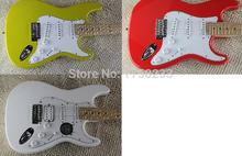 Free Shipping 2015 New Arrival ON SALE F Stratocaster Sky Blue Custom Body Maple Fingerboard Electric Guitar In Stock(China)
