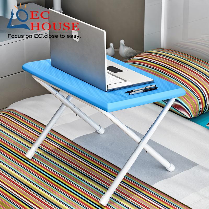 на кровати с маленьким столом, сворачивающим общежитие ноутбук Suoernuo comter изучение экспоната ленивая простая БЕСПЛАТНАЯ ДОСТАВКА стола