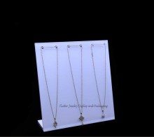 White Cream Acrylic L Necklace Dislay Rack Easel 6 Hooks Jewelry Holder Bracelet Showing Rack Jewelry Showcase 3pcs/lot