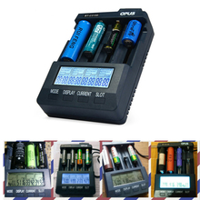 OPUS BT-C3100 Charger V2.2 smart 4 Slots Digital Intelligent Charger LCD Screen LI-ion NiCd NiMh Battery Charger US EU Plug