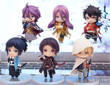 Anime Figma Sword Art Online Action Figures Toys Game Figurine Dolls Kids Friends Cosplay Gift 6pcs/lot 6.5cm
