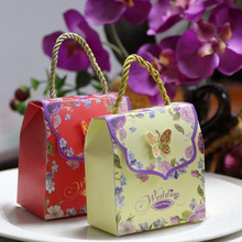 5pcs Big Paper Favor Gift Portable Box Paper Candy Boxes Paper Carry Gift Box Bag Wedding Party Supplies Accessories 95ZA383