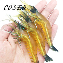 COSER 2pcs Fishing Lure Artificial Shrimp Lures Soft Fishing Baits 11.5cm 7.8g Crank Bait Slow Sinking Plug Worm Fake Lure(China)