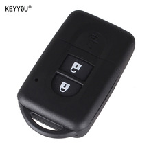 KEYYOU New Replacement Remote Key Shell Case Fob Keyless Entry 2 Button for Nissan Micra Xtrail Qashqai Juke Duke With LOGO