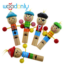 Mini Wooden Cartoon Whistle Musical Instrument Toddler Toys Game Of Children  Kids Toys baby toys 1 year infant learning toys