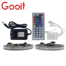 10M LED Strip Light 3528 RGB 600LED Flexible Strip Light Set + 44Keys Remote Controller + 12V 3A Power Supply Adapter(China)