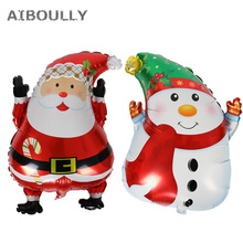 Snowman Foil Balloon Lovely Printed Christmas Mylar Balloon for Merry Christmas Party Decoration(China)