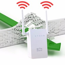 Portable Size Wireless Router Super Fast 300Mbps Data Rate Dual Network Interface WiFi Repeater WIFI Router White