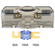 Car Fuse Box Block Fuse Holder Stereo Seats Transparent Insurance Voltage Display Durable Accessory Tool(China)