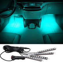 4x9LED Car SUV Interior Light Atmosphere Decorative Led Light For Fiat 500 Grand Punto Stilo Bravo Abarth Ducato Palio Panda
