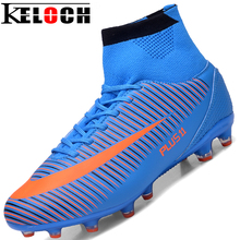 Keloch Top Quality Men High Ankle Football Boots Trainer Football Sneakers Soccer Boots Pressional Soccer Shoes Cleats