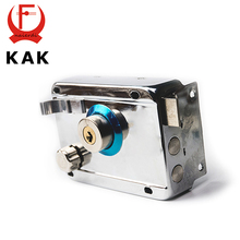 KAK-9331 Exterior Door Locks Security Anti-theft Lock Multiple Insurance Lock Wood Gate Door Lock For Furniture Hardware(China)