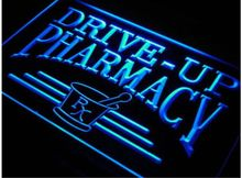 ph08 Drive Up Pharmacy RX Drug Stores LED Neon Light Sign Wholeselling Dropshipper