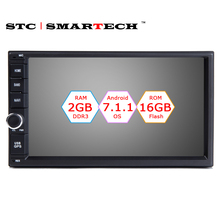 SMARTECH 2 Din Android 7.1.1 OS 7 inch Car Radio GPS Navigation Head Unit Quad Core 2GB RAM 16GB ROM Support DVR OBD DAB+ WIFI