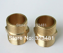 "12pcs/lot Double Male 1/2"" Brass Coupling Fittings Equal Water Plumbing Nipples Fittings Copper Free Shipping"