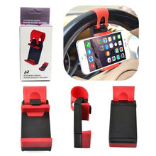 Car Steering Wheel Universal Cradle soporte movil Car cellphone Holder For Apple iPhone 7 6 5S 5C 5 4S support telephone voiture