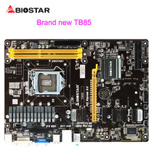 BIOSTAR Strong TB85 Desktop Motherboard Support 6PIC-E For BTC Miner Machine Mining LGA 1150 I7 ATX DDR3 1600 Computer Mainboard