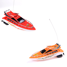 New RC Boat High Speed Remote Control Boats Electric Plastic Waterproof Toys Model Ship Sailing RC Boat Ship for Chirldren(China)