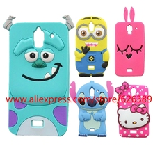 Cartoon Y3 Cases 3D Sulley Hello Kitty Stitch Minnie Mouse Design Silicone Soft Cell Phone Case Cover For Huawei Y3 Y3C Y336