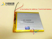 [358090] 3.7V 4200mAH (polymer lithium ion battery) Li-ion battery for tablet pc 7 inch 8 inch battery