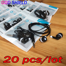 ODD SHIELD Earphone 20 pcs/lot Wholesale Earbuds 3.5mm In-Ear Music Earphones For mp4 mp3 player For Xiaomi Meizu Huawei Phone