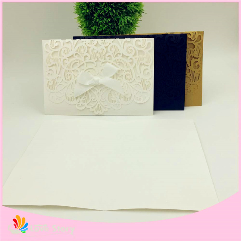 10sets wedding invitations cards party decoration souvenirs baby shower wedding supplies laser cut lace invitations(China)
