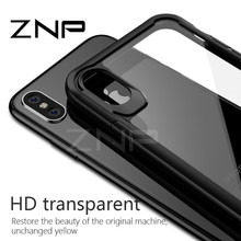 ZNP Luxury Anti-knock Soft Silicone TPU Cases For iphone X 10 Case X Transparent Phone Cover Cases For iphone X 10 Case(China)