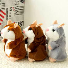 Talking Hamster cute Mouse Pet Plush Toy Electric Record Hamster Educational Stuffed Learn To Speak animal Toys mini doll(China)