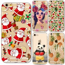 Napeyin Cute Animals Panda Girls Case for iphone 7 8 6 6s Plus 7Plus 5 5s SE soft silicone christmas lips Macaron dessert Cover(China)