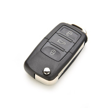 3 Buttons Remote Flip Folding Replacement Car Key Shell for VW Volkswagen MK4 Bora Golf 4 5 6 Passat Polo Bora Touran