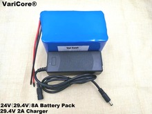 24V 8Ah 7S4P 18650 Battery li-ion battery 29.4v 8000mAh electric bicycle moped /electric/lithium ion battery pack+2A Charger