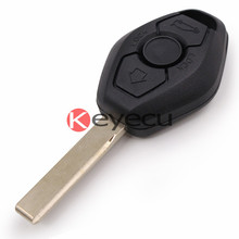 Remote Key Case 3 BTN 2 Track for BM-W Z3 Z4 X3 X5 E36 325i 3 5 7 525i 330i Uncut Shell HU92 (BackSide No Words)