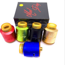Electronic Cigarette RDA Tank Atomizer Mad Dog Rda Clone 24mm Wild Dog Mad Dog Rda Dripka with PEI Drip Tip Wide Bore
