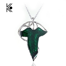 Movie Jewelry Lord Of The Elven Leaf Arwen Evenstar Alloy Pendant Elves Aragorn leaves Gift For Man And Woman Free Shipping(China)