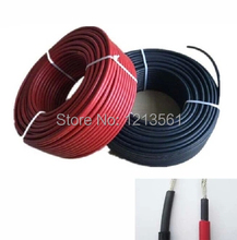 Free Shipping!! MC4 Black Red PV Solar Cable 4mm2 Used to Off-grid and Grid Connected PV System(China)